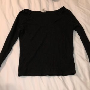 Black Fitted Long Sleeve